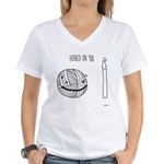 Hooked on You Women's V-Neck T-Shirt