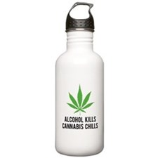 Cannabis Chills Sports Water Bottle