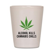 Cannabis Chills Shot Glass