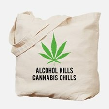 Cannabis Chills Tote Bag