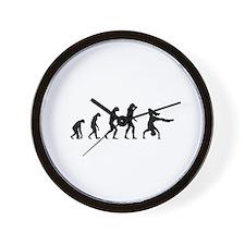 Evolution breakdance Wall Clock