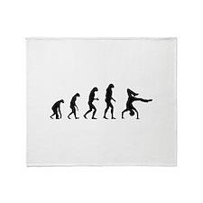 Evolution breakdance Throw Blanket