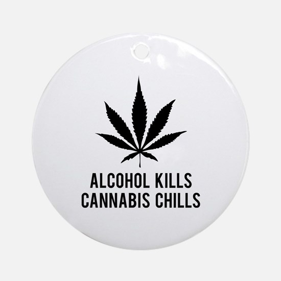 Cannabis Chills Ornament (Round)