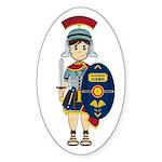 Cute Roman Soldier Sticker (Oval 10 Pk)