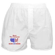 Border Security Stop The Inva Boxer Shorts