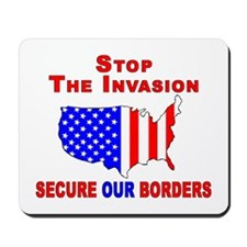 Border Security Stop The Inva Mousepad