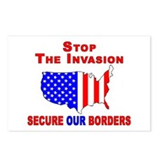 Border Security Stop The Inva Postcards (Package o