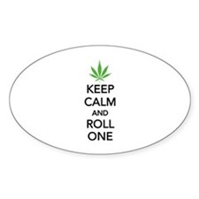 Keep calm and roll one Decal