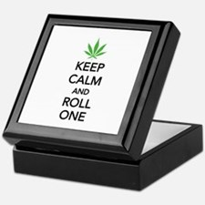 Keep calm and roll one Keepsake Box