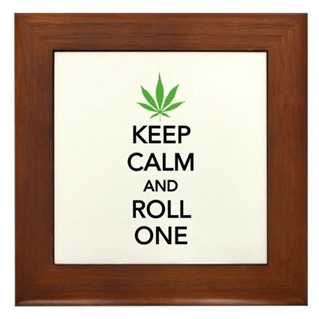 Keep calm and roll one Framed Tile