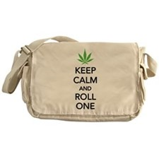 Keep calm and roll one Messenger Bag