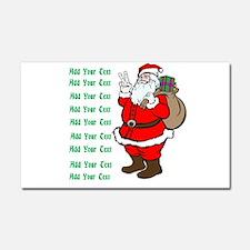 Add Your Own Text Santa Car Magnet 20 x 12