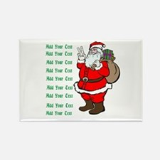 Add Your Own Text Santa Rectangle Magnet