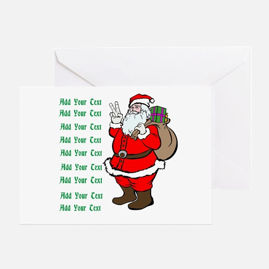 Add Your Own Text Santa Greeting Card