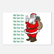Add Your Own Text Santa Postcards (Package of 8)