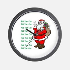 Add Your Own Text Santa Wall Clock