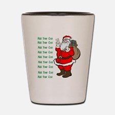 Add Your Own Text Santa Shot Glass