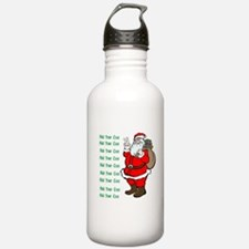 Add Your Own Text Santa Water Bottle