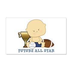 Cute sports baby future star 22x14 Wall Peel