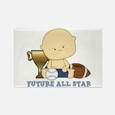Cute sports baby future star Rectangle Magnet
