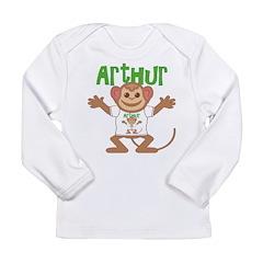 Little Monkey Arthur Long Sleeve Infant T-Shirt