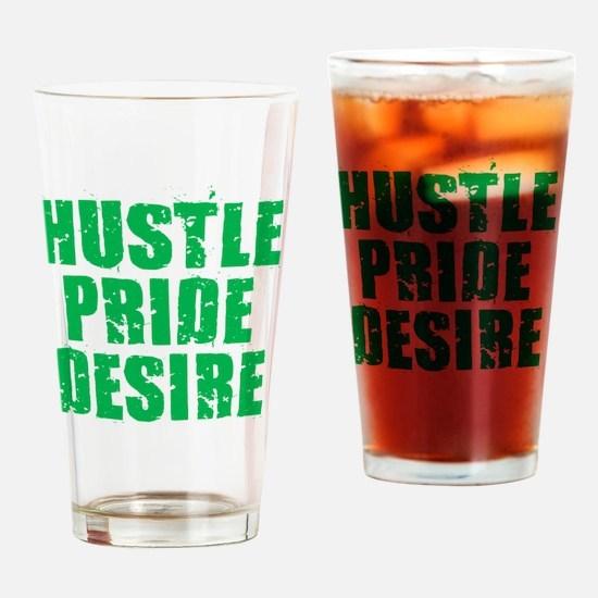 Hustle Pride Desire - Green Drinking Glass