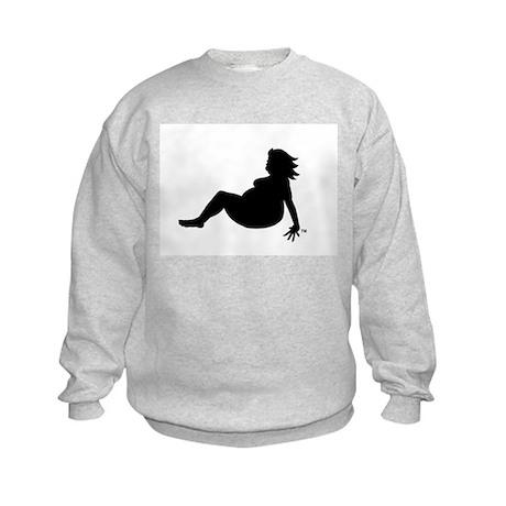 Fat Mudflap Girl Kids Sweatshirt
