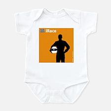 iRace Orange Race Car Driver Infant Creeper