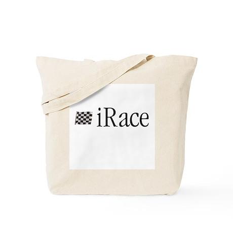 iRace Orange Race Car Driver Tote Bag