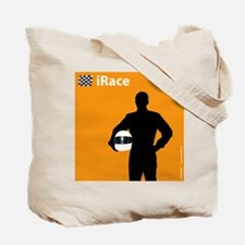 iRace Orange Race Car Driver Tote Bag