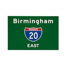 Birmingham 20 Rectangle Magnet