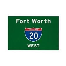 Fort Worth 20 Rectangle Magnet
