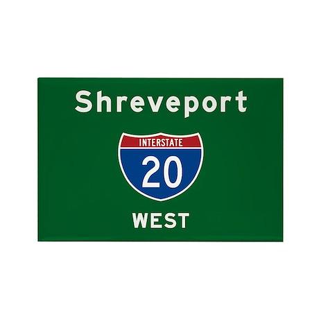 Shreveport 20 Rectangle Magnet