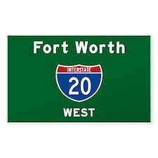 Fort Worth 20 Bumper Stickers