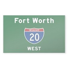 Fort Worth 20 Decal