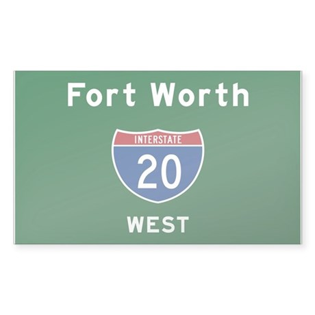 Fort Worth 20 Sticker (Rectangle)