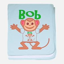 Little Monkey Bob baby blanket