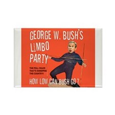 Bush Limbo Poll Party! Rectangle Magnet
