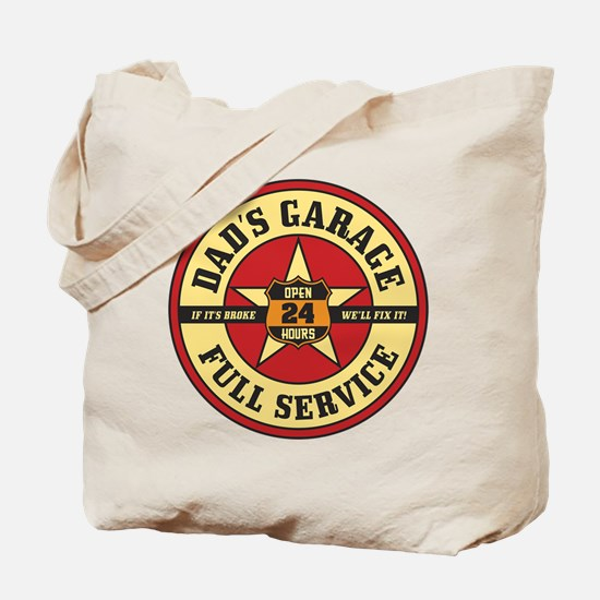 Dad's Garage Tote Bag