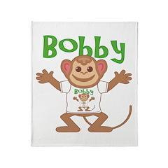Little Monkey Bobby Throw Blanket