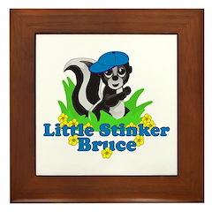 Little Stinker Bruce Framed Tile