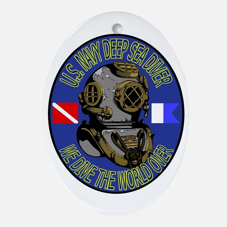 NAVY DIVER Ornament (Oval)