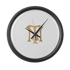 Tony Montana Monogram Large Wall Clock