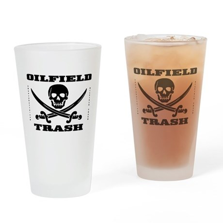 Oil Field Trash,Skull Drinking Glass,Barware