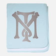 Tony Montana Silver Monogram baby blanket