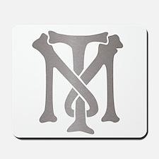 Tony Montana Silver Monogram Mousepad