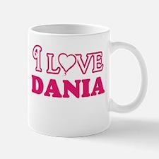 I Love Dania Mugs