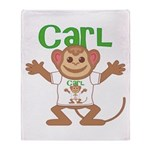 Little Monkey Carl Throw Blanket
