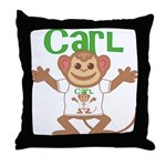 Little Monkey Carl Throw Pillow