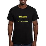 Failure Is Achievable Men's Fitted T-Shirt (dark)